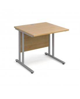 Straight economy desk - 800mm x 800mm - Oak
