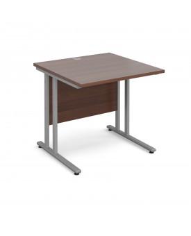 Straight economy desk - 800mm x 800mm - Walnut