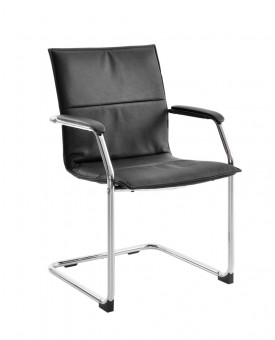 Essen leather faced conference chair