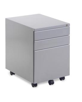 Silver steel 3 drawer pedestal