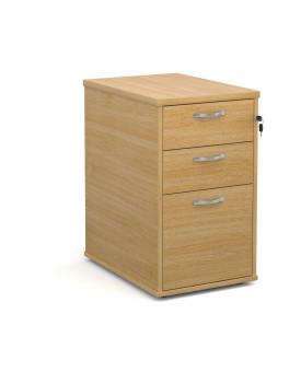 3 drawer economy 600 desk high pedestal - Oak