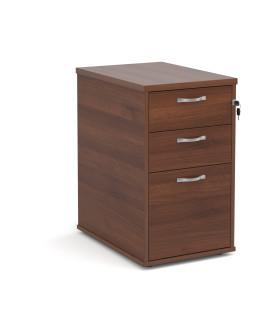 3 drawer economy 600 desk high pedestal - Walnut