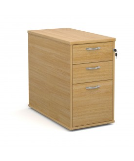 3 drawer economy 800 desk high pedestal - Oak