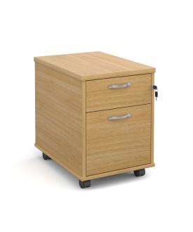 2 drawer economy mobile pedestal - Oak