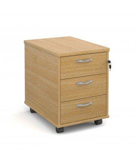 3 drawer economy mobile pedestal - Oak