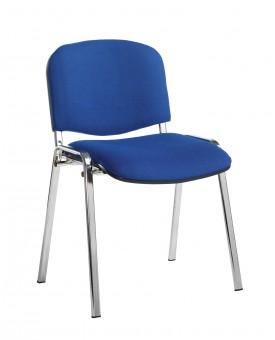 Taurus Blue Meeting Chair with Chrome Frame