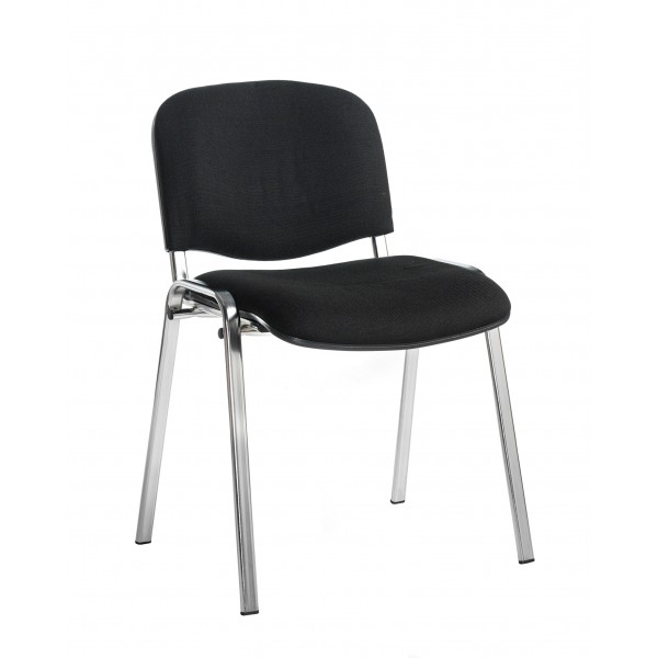 Taurus Black Meeting Chair with Chrome Frame