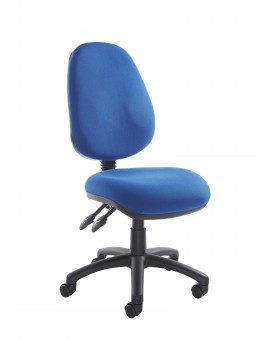Vantage operator chair with no arms - Blue