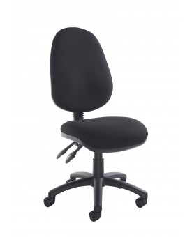 Vantage operator chair with no arms - Black