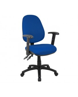 Vantage operator chair with adjustable arms - blue
