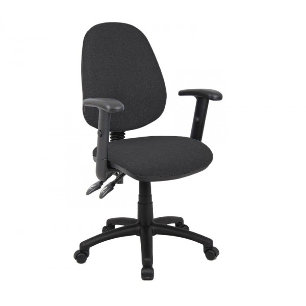 Vantage operator chair with adjustable arms - Charcoal