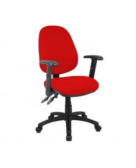 Vantage operator chair with adjustable arms - Red