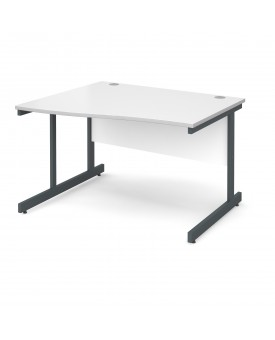 Next Day Delivery Wave Desk Left Hand- 1200mm x 990mm x 800mm- Available in 5 colours