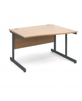 Next Day Delivery Wave Desk- 1200mm x 990mm x 800mm- Available in 5 colours