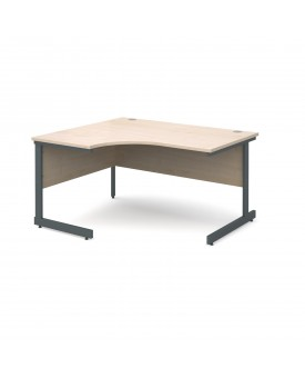 Next Day Delivery Corner Desk Left Handed- 1400mm x 1200mm- Available in 5 colours