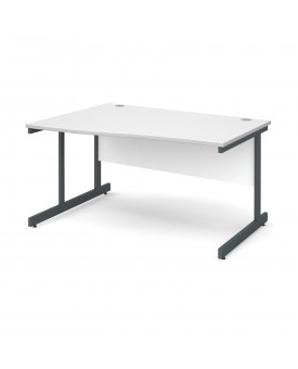 Next Day Delivery Wave Desk Left Hand- 1400mm x 990mm x 800mm- Available in 5 colours