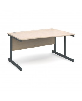 Next Day Delivery Wave Desk- 1400mm x 990mm x 800mm- Available in 5 colours