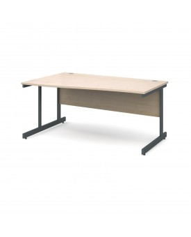 Next Day Delivery Wave Desk Left Handed 1600mm x 990mm x 800mm- Available in 5 colours