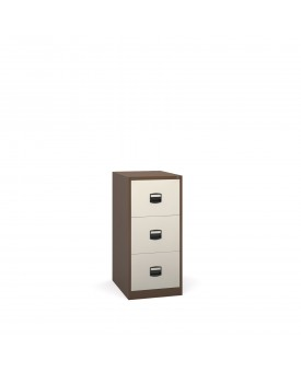 Next Day Delivery-Steel 3 drawer contract filing cabinet 1016mm high- available in 3 colours