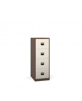 Next Day Delivery-Steel 4 drawer contract filing cabinet 1321mm high- available in 3 colours
