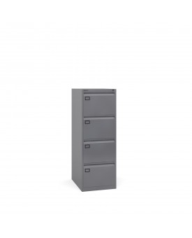 Next Day Delivery-Steel 4 drawer filing cabinet 1321mm high- available in 3 colours