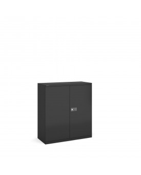 Next Day Delivery-Steel contract cupboard with 1 shelf 1000mm high- available in 3 colours
