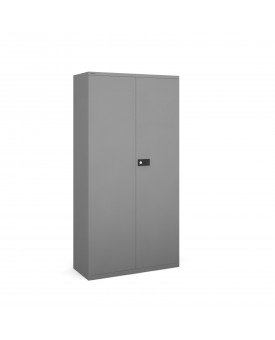 Next Day Delivery-Steel contract cupboard with 3 shelves 1806mm high- available in 3 colours