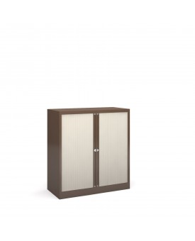 Next Day Delivery-Steel low tambour cupboard 1000mm high- available in 3 colours