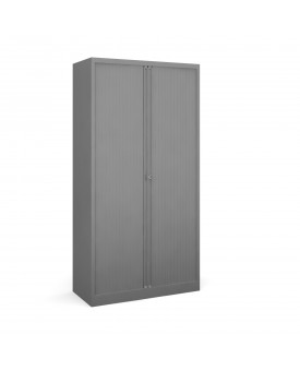 Next Day Delivery-Steel high tambour cupboard 1970mm high- available in 3 colours