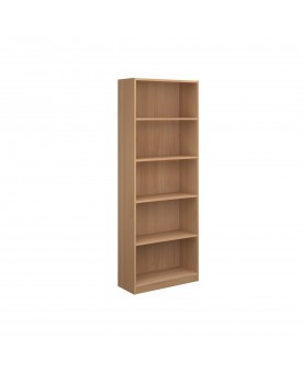 Next Day Delivery-Economy bookcase 2004mm high with 4 shelves- available in 3 colours