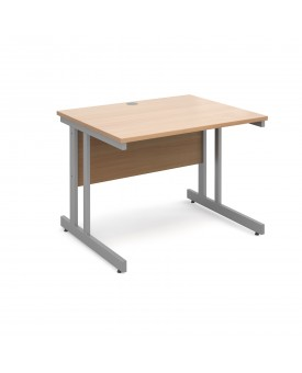 Next Day Delivery Momento straight desk silver cantilever frame 1000mm x 800mm- Available in 5 colours