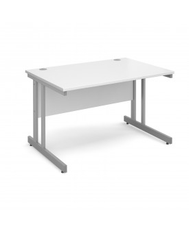 Next Day Delivery Momento straight desk silver cantilever frame 1200mm x 800mm- Available in 5 colours