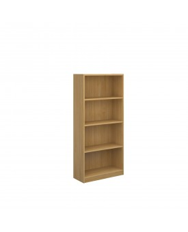 Next Day Delivery-Economy bookcase 1620mm high with 3 shelves available in 3 colours