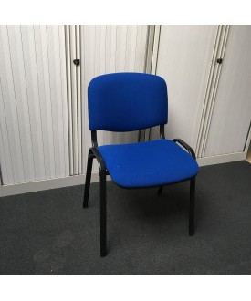 Blue static chair with black frame