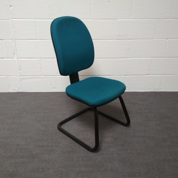 Turquoise static chair