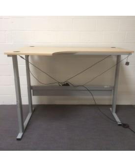 Maple left handed adjustable height desk- 1800 x 1200
