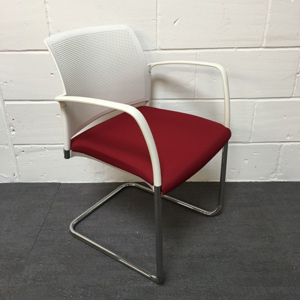 Dark red meeting chair