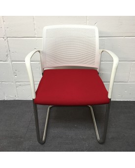 Cherry red meeting chair