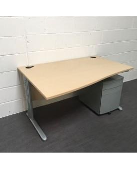 Maple wave desk set left handed - 1400 x 800/1000
