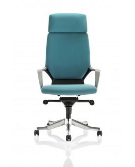 Xenon Executive Black Shell High Back Blue Fabric With Headrest
